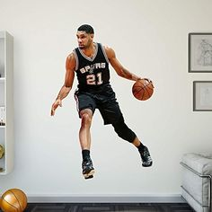 NBA San Antonio Spurs Tim Duncan 2015-2016 Real Big Photo by Fathead Peel and Stick Decals. NBA San Antonio Spurs Tim Duncan 2015-2016 Real Big Photo.