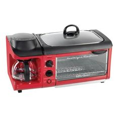 Nostalgia Electrics Retro Series 3-in-1 Breakfast Station-BSET300RETRORED at The Home Depot