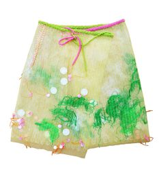 A Louda Collection one-of-a-kind couture skirt done with hand-made fabric and embroidered with large sequins