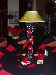 Lamp Vase Vegas Centerpiece | Party