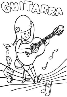 SGBlogosfera. María José Argüeso Coloring For Kids, Coloring Books, Music Symbols, Music Crafts, Music And Movement, Instruments, Toddler Art, Music For Kids, Piano Sheet Music