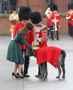 Kate and a dog. Cuteness overload.