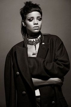 Aggressive Gothic Girl Editorials - Rihanna Gets in Your Face for 032c Magazine Fall 2013 Issue (GALLERY)