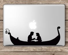 Tangled Boat Rapunzel and Flynn Rider - Apple Macbook Laptop Vinyl Sticker Decal Macbook Stickers, Macbook Decal, Laptop Decal, Flynn Rider, Rapunzel, Apple Mac Computer, Apple Computers, Disney Tangled, Disney Nerd