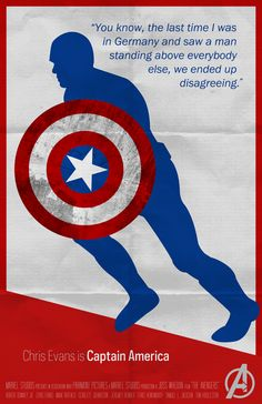 Captain America - The Avengers Poster Series by KC Youm, via Behance