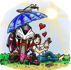 Motorcycle Humor, Motorcycle Couple, Motorcycle Art, Women Motorcycle, Motor Works, Biker Style, Biker Girl, My Ride, Bike Life