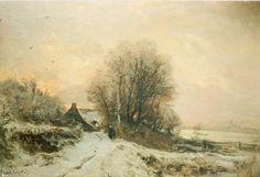 Lodewijk Franciscus Hendrik 'Louis' Apol (Den Haag 1850-1936) Besneeuwd landschap - Kunsthandel Simonis en Buunk, Ede (Nederland).