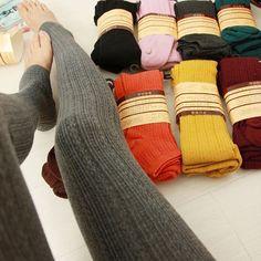 Women Ladies Winter Warm Comfortable Slim Tights Pants Knitted Stirrup Leggings