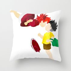 I could just see all these different Miyazaki pillows all over my couch! LOVE! A Friend for Ponyo Pillow Cover | dotandbo.com