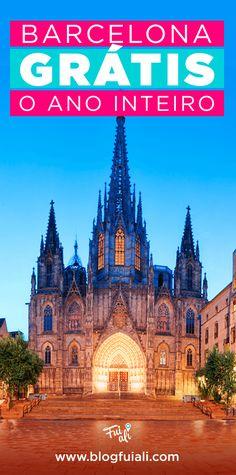 Barcelona é um destino incrível na Europa, e querer fazer uma viagem mais econômica não é problema! Fizemos uma lista com várias opções gratuitas para você incluir no seu roteiro! #barcelona #europe #europa #eurotrip #mochileiros #gratis #free #roteiro #blogfuiali #turismo #travelblogger #traveltips
