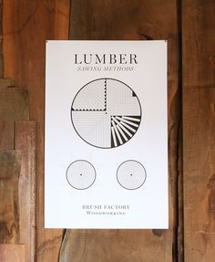 Lumber sawing methods poster designed by Hayes Shanesy of Brush Factory design studio forBrighton Exchange. Limited edition signed and num...