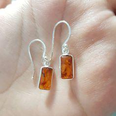 Amber earrings / amber earing / amber jewellery / by LazuriteGems