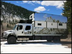 Pangea Lifting Roof on Freightliner Crew Cab | Global Expedition Vehicles