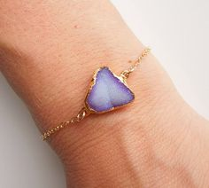 purple ombre druzy bracelet by @443Jewelry {love this}