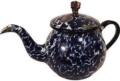 Graniteware Teapot enamel. decorative only.