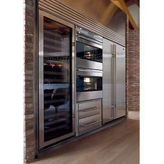 Wine fridge - sub-zero appliances… commercial kitchen design Home Decor Kitchen, Dream Kitchen, Home, Wine Cabinets, Luxury Kitchens, Kitchen Remodel, Modern Kitchen, Sub Zero Appliances, Kitchen Design
