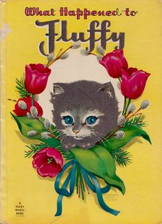 """1948 """"What Happened to Fluffy"""" A Whitman Fuzzy Wuzzy Book"""