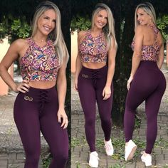Legging Cadarço Beringela Yoga Pants Girls, Workout Wear, Fashion Outfits, Womens Fashion, Gorgeous Women, Beautiful, Jeans, Sportswear, Sexy
