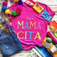 Blessed Mama Cita Tee from Paisley Grace Boutique 2nd Birthday Party Themes, Fiesta Theme Party, Third Birthday, First Birthday Parties, First Birthdays, Birthday Ideas, Taco Party, Kid Parties, Birthday Fun