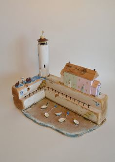 Driftwood 'Boats At Low Tide'. Handmade By by HSDesignsCornwall