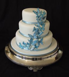 Butterfly wedding cake, butterflies made out of icing though!!