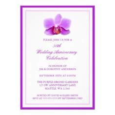 Elegant Purple Orchid 50th Wedding Anniversary Invitations In our offer link above you will seeThis Deals          	Elegant Purple Orchid 50th Wedding Anniversary Invitations please follow the link to see fully reviews...