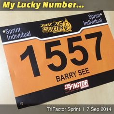 My Lucky Number for TriFactor Sprint Race Bibs, Lucky Number, Triathlon, Company Logo, Racing, Instagram Posts, Running, Triathalon, Auto Racing