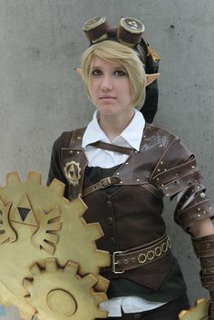 Steampunk Link crosplay by #MolecularAgatha