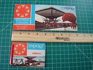 Vintage Montreal Canada Expo 67 Postcard Book + Mini Album No Marks
