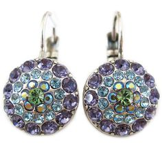 Mariana Silver Plated Moondust Round Swarovski Crystal Earrings, Pastel 1141 88. Available at www.regencies.com