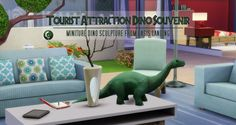 I did a quick thing because I have been wanting thing thing to sit around since…the game came out.That dinosaur that sits off in the distance in Oasis Spring…yea, I shrunk him. A LOT.