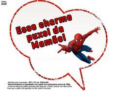 Plaquinhas divertidas para festa com o tema Homem Aranha, totalmente gratuitas para você baixar e usar na sua festa infantil