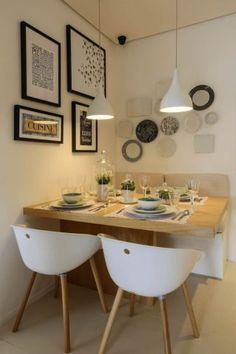 Confira 10 fotos selecionadas pelo Pinterest, com mesas em salas de jantar enxutas e bem pensadas
