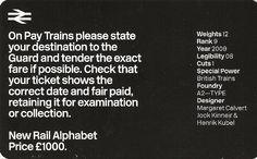 New Rail Alphabet — A2 Type