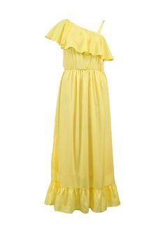 Платье Lamania женское. Цвет: желтый. Сезон: Весна-лето 2014. С бесплатной доставкой и примеркой на Lamoda. http://j.mp/1ptnMRh
