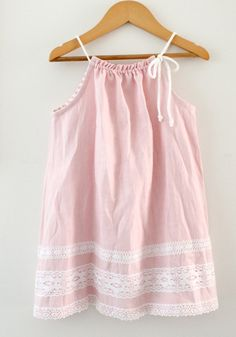 Toddler Girls Pink Linen DressBaby DressNatural by ChasingMini