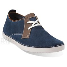 Clarks Neelix Vibe Men's Suede Casual Fashion Sneakers Shoes 68079 Navy Blue