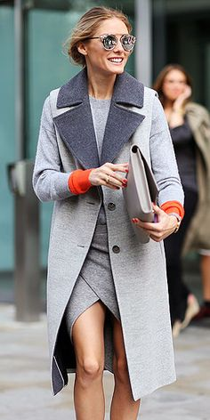 Long vests have been everywhere so far this season, so leave it to Olivia Palermo to bring the trend to outerwear in ...