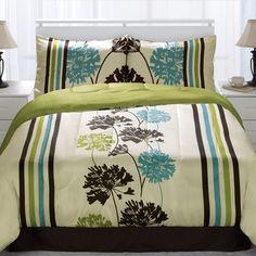 Monroe Lime 4 Piece Comforter Set $100.00