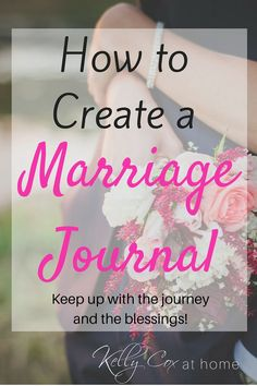 Ever considered a marriage journal?  We are blessed to have started ours after our wedding.  Read on and I'll explain!