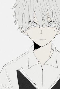Cute Anime Boy, Anime Art Girl, Manga Art, Dark Anime Art, Art And Illustration, Drawing Sketches, Art Drawings, Estilo Anime, Anime Sketch