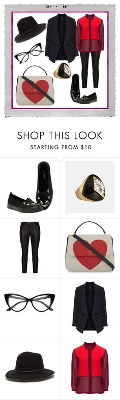"""Outfit #51"" by allieemet on Polyvore featuring Polaroid, Avenue, Samoon, Kate Spade and Manon Baptiste"