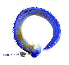 ENSO    Blue Enso Painting - like these colors.  not sure I want the enso in color, but possibly
