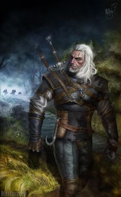 Geralt of Rivia by Vladislav Kutuzov #TheWitcher3 #PS4 #WILDHUNT #PS4share #games #gaming #TheWitcher #TheWitcher3WildHunt