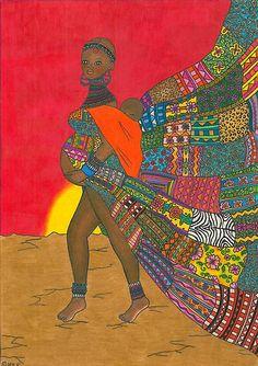 Masai - Mother & Child by Laura Hutton #pregnant #pregnancy #birth