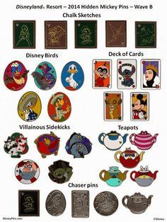 2014 Hidden Mickey Wave B Disneyland Pins