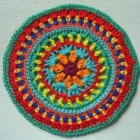 Crochet Mandala Wheel made by Debbie, Norfolk, UK for yarndale.co.uk