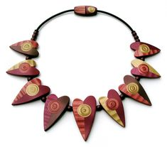 Awesome mica shift polymer clay necklace! 7045540845_e7bd6335c9_b