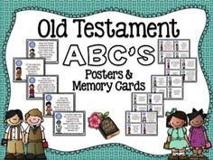 Old Testament ABC's Wall Posters and Memory Cards