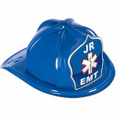 Blue Plastic Jr EMT Hat